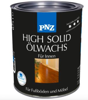 Масло-воск с сухим остатком - HIGH SOLID ŐLWACHS, бесцветный матовый 0,75 л